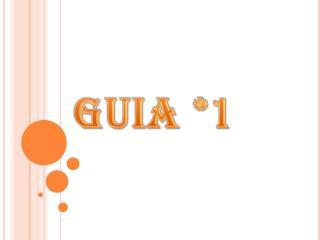 GUIA *1