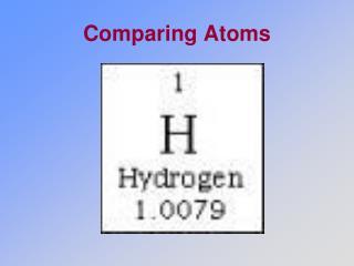 Comparing Atoms