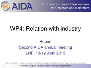 WP4: Relation with industry