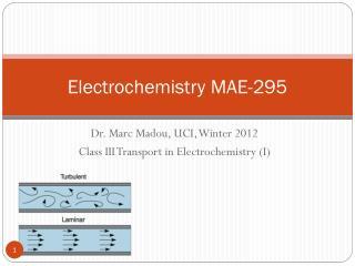 Electrochemistry MAE-295