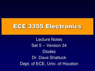 ECE  3355  Electronics