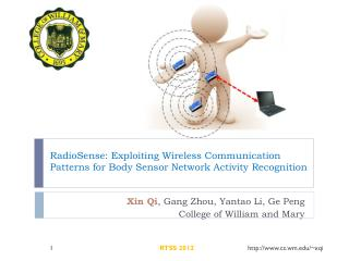 RadioSense : Exploiting Wireless Communication Patterns for Body Sensor Network Activity Recognition