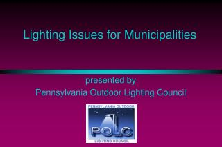 Lighting Issues for Municipalities