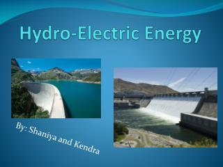 Hydro-Electric Energy