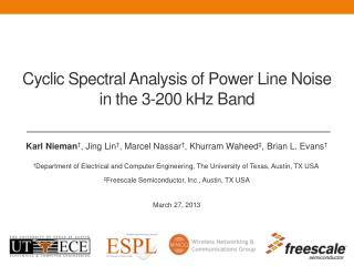 Cyclic Spectral Analysis of Power Line Noise in the 3-200 kHz Band
