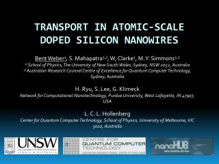 Transport in atomic-scale doped silicon  nanowires