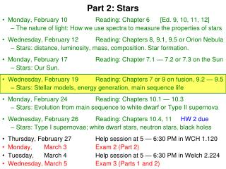 Part 2: Stars