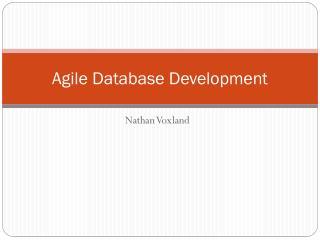 agile database development