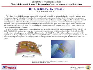 University of Wisconsin-Madison Materials Research Science & Engineering Center on Nanostructured Interfaces