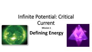 Infinite Potential: Critical  Current