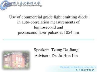 Use of commercial grade light emitting diode  in auto-correlation  measurements of  femtosecond  and picosecond  laser