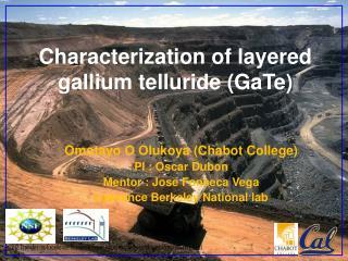 Characterization of layered  gallium telluride ( GaTe )