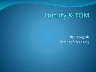 Quality & TQM