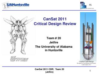 CanSat 2011 Critical Design Review