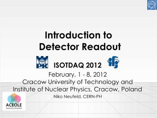Introduction to  Detector Readout