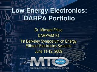 Low Energy Electronics: DARPA Portfolio