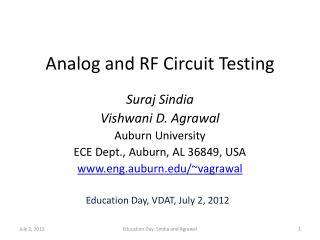 Analog and RF Circuit Testing