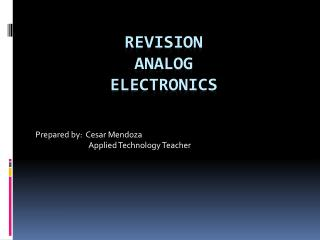 Revision analog electronics