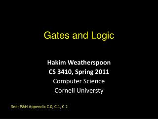 Gates and Logic