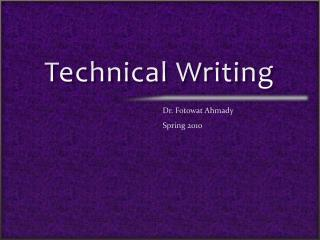 Technical paper writing tips