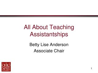 All About Teaching Assistantships