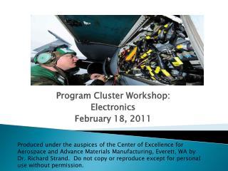Program Cluster Workshop: Electronics February 18, 2011