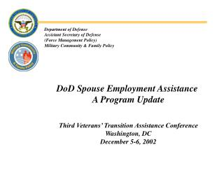 department of defense assistant secretary of defense force management policy military community  family policy