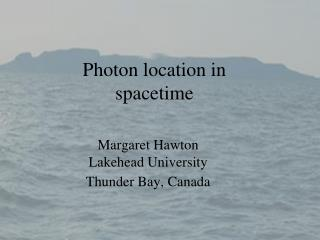 Photon location in spacetime