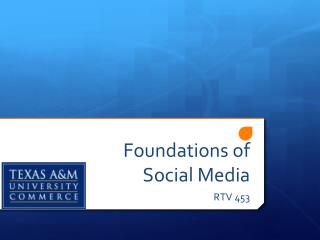 Foundations of Social Media