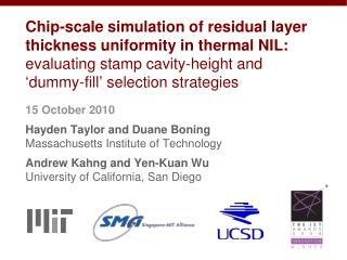 Residual layer thickness in thermal NIL exhibits pattern dependencies