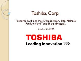 Toshiba, Corp.
