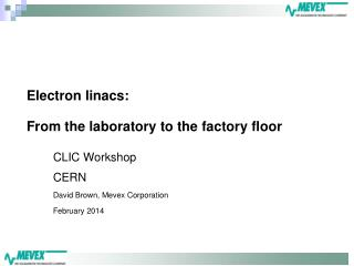 Electron linacs: From the laboratory to the factory floor