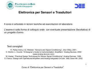 """Corso di """"Elettronica per Sensori e Trasduttori """""""