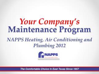 Your Company's Maintenance Program