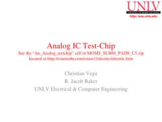 Christian Vega R. Jacob  Baker UNLV Electrical & Computer Engineering