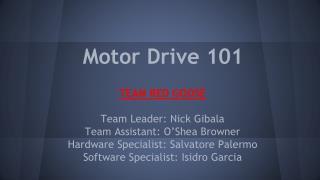 Motor Drive 101