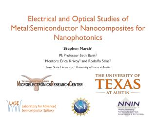 Electrical and Optical Studies of  Metal:Semiconductor Nanocomposites  for  Nanophotonics