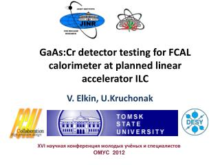 GaAs:Cr  detector testing for FCAL calorimeter at planned linear accelerator ILC