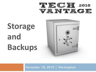 Storage  and  Backups