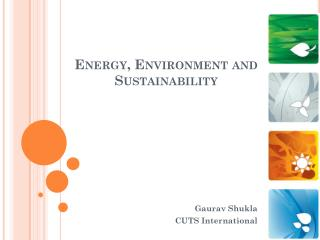 Energy, Environment and Sustainability