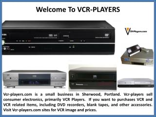 Buy Any VCR-Players Items On This Page With Free Shipping