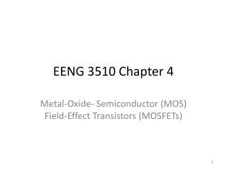 EENG 3510 Chapter 4