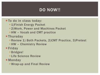 Do Now!!