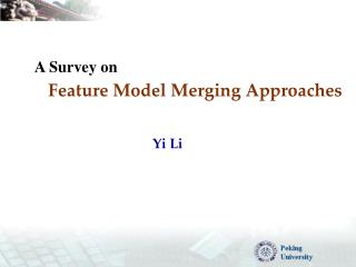 Feature Model Merging Approaches
