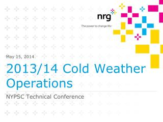 2013/14 Cold Weather Operations