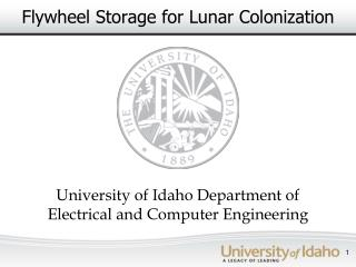 Flywheel Storage for Lunar Colonization