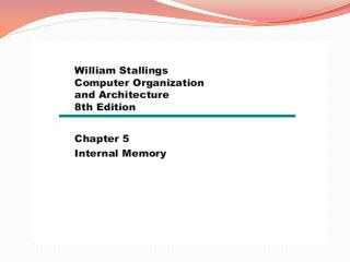 5.1 Semiconductor main memory