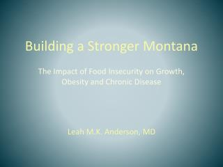 Building a Stronger Montana