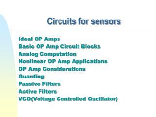 Circuits for sensors