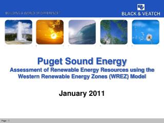 Puget Sound Energy Assessment of Renewable Energy Resources using the Western Renewable Energy Zones (WREZ) Model